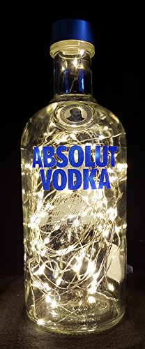 Absolutamente Vodka – Linterna para botella con 80 LED, blanco cálido, idea de regalo