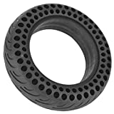 Electric Skateboard Tire,10 Inch Front/Rear Scooter Tire Wheel Solid Replacement, Black Durable Solid Rubber Wheel Tire Tyre for Electric Scooter Skateboard