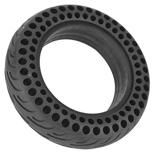 Tbest 10 Zoll vorne/hinten Roller Reifen Rad Fester Ersatz, schwarzer langlebiger Vollgummi Rad Reifen für Elektroroller Skateboard Scooter