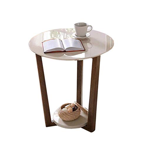 Coffee table, Tables Round Sofa Side End Tables Coffee Table/Nightstand, Plant/Telephone/Vase Holder for Living Room Bedroom Small Space Coffee Table Color : Wood Grain, Size : 19.6819.6821.65in