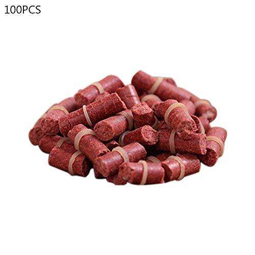 newhashiqi Fischköder, 100 Stück Gummiband Hanging Lake Food Crucian Karpfen Angelartikel Outdoor-Zubehör rot
