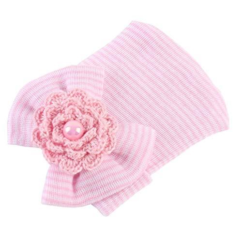 Unisex Neugeborenes Babymütze Cotton Beanie Mit Bogen Weicher Knit Reifen Gestreifte Infant Caps Kleinkinder Headwraps Für Mädchen Jungen