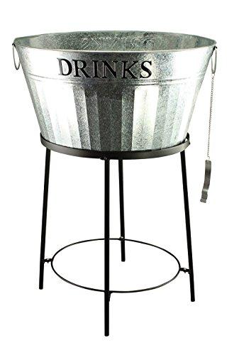 Fachhandel Plus Zinkwanne Getränkekühler m. Flaschenöffner Sektkühler Flaschenkühler Bierkühler