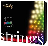 Twinkly - TWS400SPP Special Edition 400 RGB+White LED String - App-Controlled Color Changing Christmas Lights with Green Cable (105 ft) - Indoor/Outdoor Party Decorations - Generation II