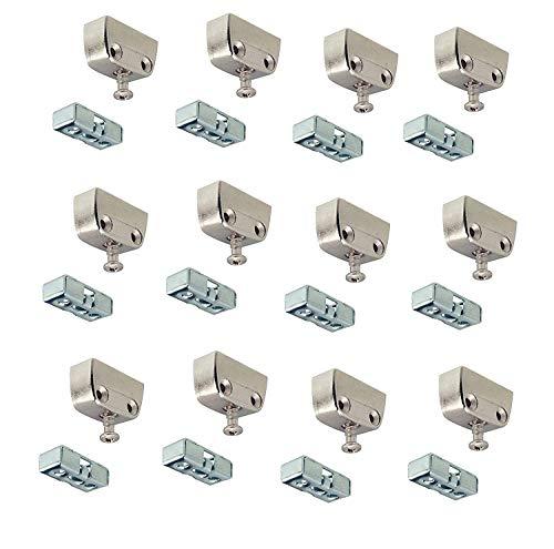 Gedotec Verbindungsbeschlag Trapez-Verbinder Metall Korpusverbinder Holz - RV Stahl | Eckverbinder mit Rastfunktion | Schrank-Verbinder für Möbel & Kästen | 24 Set - Möbelverbinder zum Schrauben