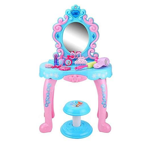 WH-IOE Frisierkommode für Mädchen Mädchen Play House Princess Dresser Spielzeug Großhandel Frühkindliche Bildung Puzzle Kinder Spielzeug (Color : Blue, Size : 45x31x76cm)