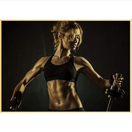 yitiantulong Impresión En Lienzo Arnold Schwarzenegger Poster Bodybuilding Fitness Gym Workout Poster Pintura Arte De La Pared para La Decoración De La Sala De Estar R-696 (50X90Cm) Sin Marco