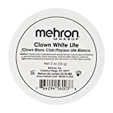 Mehron Mehron Makeup Clown White Lite Professional Makeup Tapones para los oídos 4 centimeters Negro (Black)
