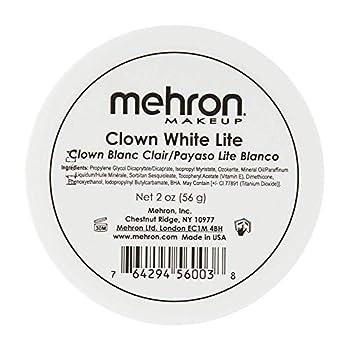 Mehron Makeup Clown White Lite Professional Makeup  2 oz