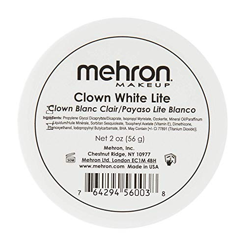 Mehron Mehron Makeup Clown White Lite Professional Makeup Ohrstöpsel 4 centimeters Schwarz (Black)