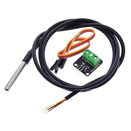 LAANCOO Temperature sensor module kit Ds18b20 waterproof with 100cm digital sensor cable