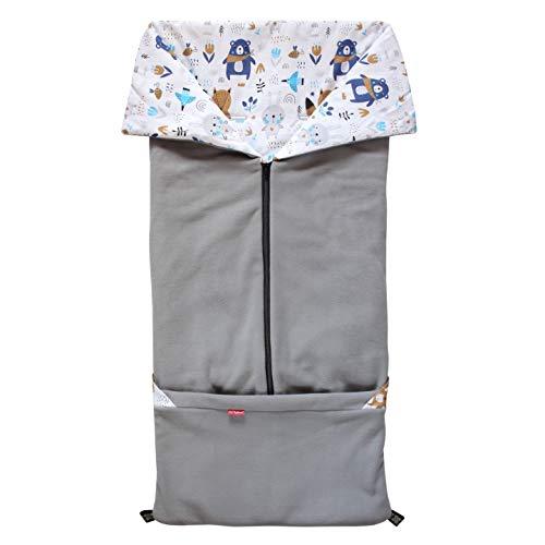 ByBoom Bebé/Niño Saco abrigo, Saquito l 2 en 1 primavera, verano, otoño, para el asiento del bebé; Universal para coches, asiento de coche, por ejemplo, Maxi-Cosi, de cochecito o silla de paseo