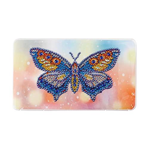 5D DIY Caja Mascarillas Pintura Diamante,Full Drill Mariposa Diamond Painting Cuadros Kit,Punto de Cruz Artes Manualidades Caja 0rganizadora Almacenamiento Máscaras Regalo 18 * 11 * 1cm