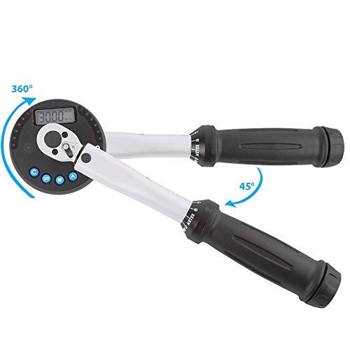 TECPO Digitaler Drehmoment Adapter mit Drehwinkel Meßgerät 1/4 Zoll 1.5-30 Nm Drehmomentschlüssel Winkelmessgerät