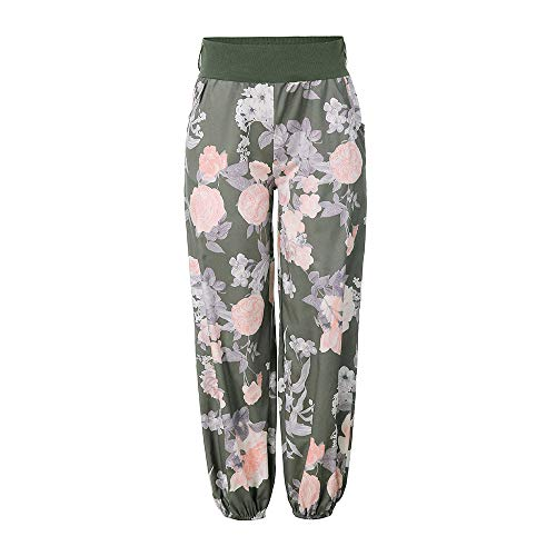 Broeken Autumn Summer Locker Dames Floral Broeken Lange broek Baggy Leggings Plus Size Large legergroen
