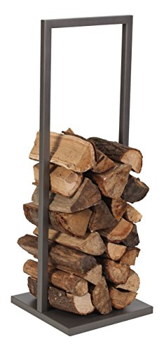 LES ATELIERS DIXNEUF 005.10480G1 Rangement bois ICARE gris bûches chauffage, 114 x 40 x 40 cm