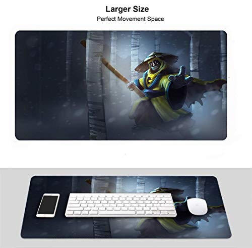 Professionelles Gaming-Mauspad Wasserdichter rutschfester Gummi für PC-Computer-Laptop (Champion Jax Pax)