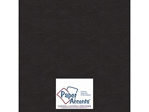 Accent Design Paper Accents Chpbrd Chipboard 12x12 1X Heavy 50pt Black, 25 Piece |