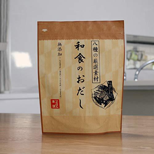 和食のおだし 無塩 無添加 国産 1袋(24包) 八種の厳選素材(さば節・むろあじ節・かつおの粗節・かつおの枯れ節・かたくちいわし・あご・昆布・干し椎茸) 天然だしパック