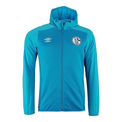 UMBRO FC Schalke 04 Walk On - Chaqueta deportiva, turquesa/azul, medium