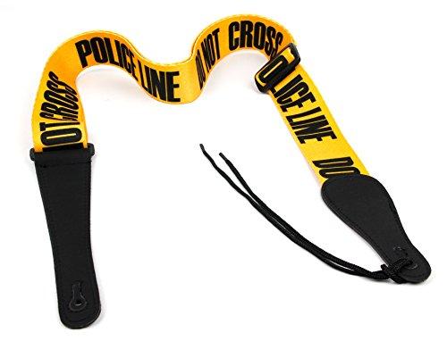 Sangle de guitare BRAY universelle en polyester - Police Line - Idéale...