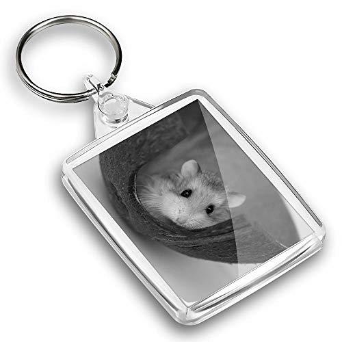 IP02 Passport Keyring BW - Cute Little Hamster Gerbil |Keychain|Keyring|Charm|Gift #39142