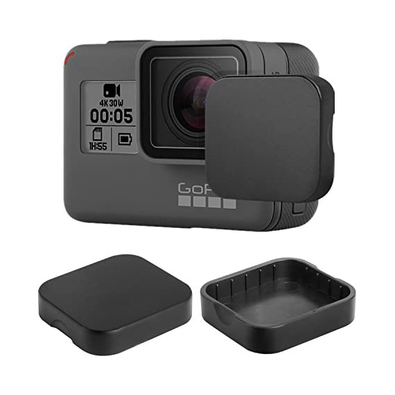 [6 Pack] Tempered-Glass Screen Protector for GoPro Hero 7 (Black Only) / Hero 5 Black Hero 6 Black (2-Pack) & Lens… 7 Designed for Gopro Hero 5/6 Black. Precise laser cut designed specifically to offer max body coverage. Greatest protection: Extremely high hardness,resists scratches up to 9H Tempered Glass with long lasting protection. 99.99% HD Clarity and Touchscreen Accuracy: High-response, high-transparency.