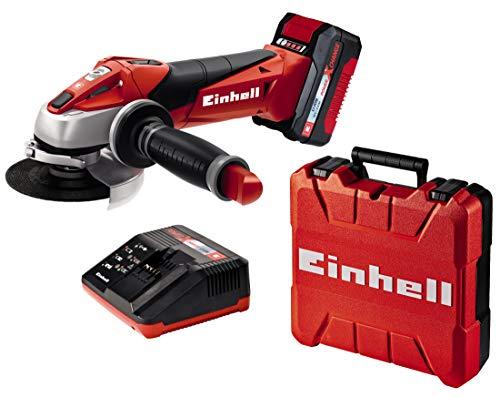 Einhell Expert Amoladora TE-AG 18/115 Li Kit Power X-Change, Li-Ion, 18 V, incluida Batería de 3,0 Ah y Cargador Rápido (ref. 4431119)