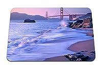 22cmx18cm マウスパッド (アメリカカリフォルニア州サンフランシスコブリッジゴールデンゲート) パターンカスタムの マウスパッド
