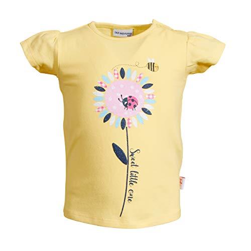 SALT AND PEPPER Baby-Mädchen Lucky Uni Foam Glitter T-Shirt, Lemon, 74