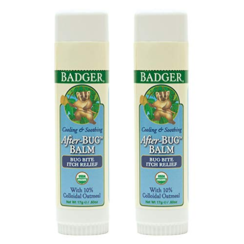 Badger - After Bug Balm Stick, Organic Anti-Itch Balm, Bug Bite Relief Stick, Itch Balm Stick, Itch Relief Balm, After Bite Balm, Mosquito Bite Relief, 0.6 oz - 2-Pack