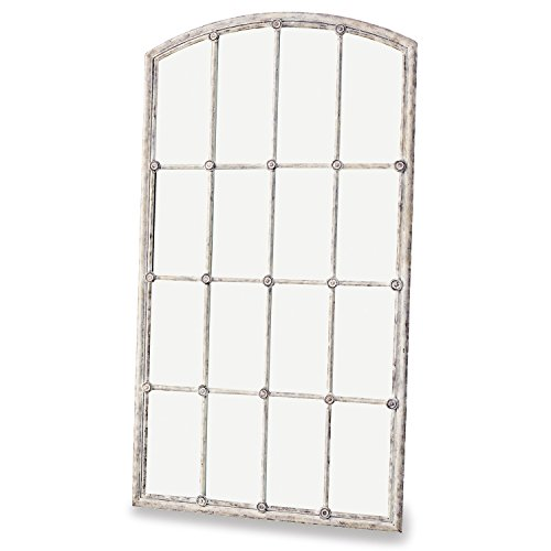 Loberon Spiegel Tobiah, Eisen/Spiegelglas, H/B/T ca. 138,5/75,5/4 cm, Creme