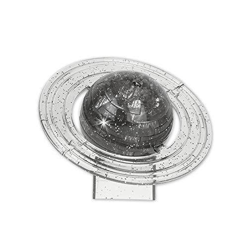Quebra-cabeça de cristal 3D, blocos de cristal translúcido de 40 unidades, translúcido/cinza para famílias de prateleiras de brinquedos em formato de Saturno Seus colegas amigos mesa(grey, 12)