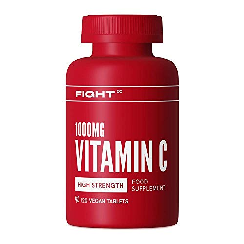 Vitamin C 1000mg | High Strength Tablets by FIGHT | 120x Vegan VIT C Tablets | Support Your Immune System, Body & Energy