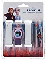 Disney Frozen Girls Digital Dial Projection Flashlight Light Wristwatch - WD19420