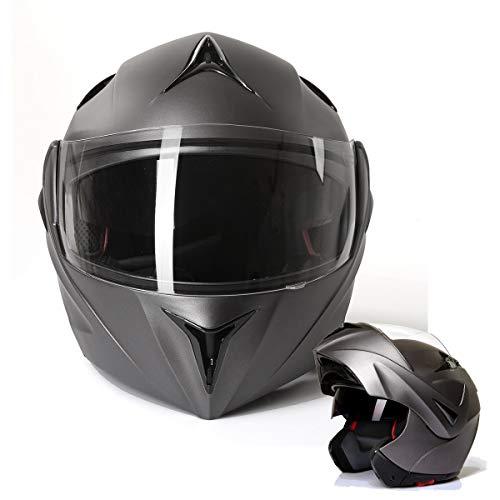 Klapphelm Integralhelm Motorradhelm CMX Prometheus matt grau Größe L