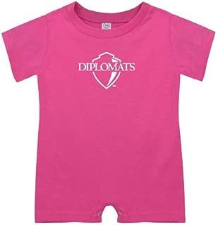 Franklin & Marshall Bubble Gum Pink Infant Romper 'Diplomats Official Logo'