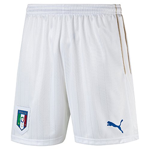 PUMA FIGC Shorts Replica.White Homme, White/Team Power Blue, FR : M (Taille Fabricant : M)