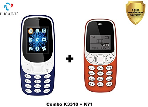 IKALL Feature Mobiles Combo K3310 Dark Blue and K71 Red