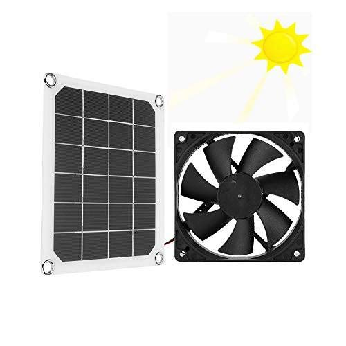 Solar Power Panel Exhaust Fan, Professional 6V 10W Solar Powered Mini Ventilator Outdoor for Greenhouse Chicken House Pet Houses