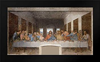 The Last Supper 24x15 Framed Art Print by Da Vinci, Leonardo