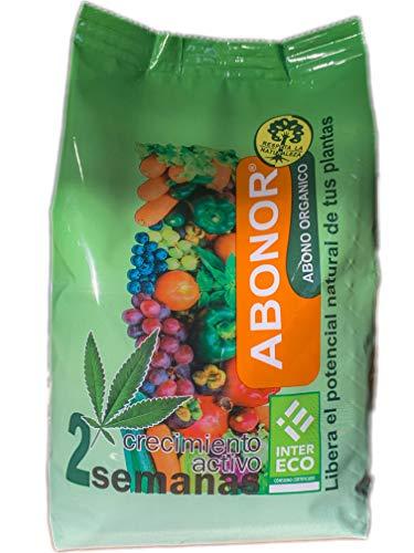ABONOR Abono Orgánico Para Plantas Huertos y Jardines- Fertilizante Natural 1 kg [Certificado Agricultura Ecológica, Nutrientes Naturales, Interior y Exterior]
