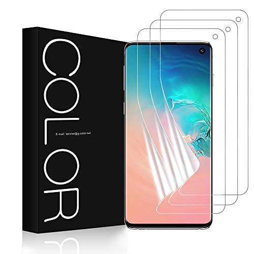 G-Color Galaxy S10 Schutzfolie, [3Stück]TPU-Bildschirmschutzfolie, hochauflösend ultradünn, [Nicht S10 PLUS Schutzfolie], Blasenfrei, Schutzfolie für Samsung Galaxy S10