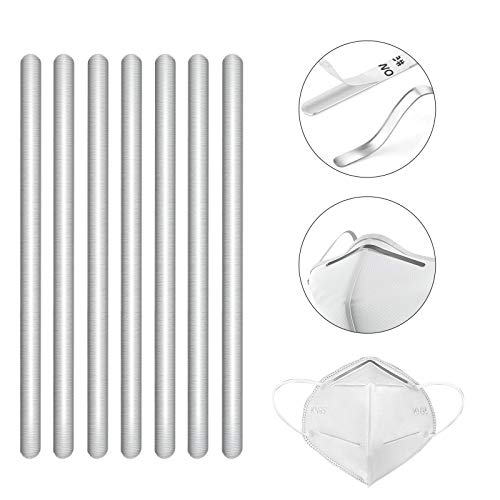 Nose Bridge Strips for mask, 50 PCS Aluminum Metal Nose Strips Straps Adjustable Nose Clips Wire Adhesive Nose Bridge Bracket for DIY Face mask Making Accessories for Sewing Crafts