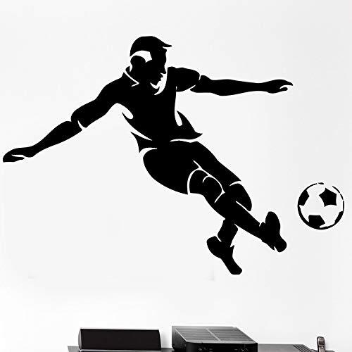 Etiqueta engomada del jugador de fútbol decoración deportiva casco decoración de la habitación de los niños cartel etiqueta engomada del fútbol del vinilo etiqueta de la pared club de la estrella d