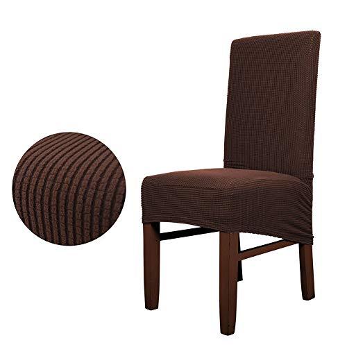 Oversized Chair Cover Plaid Brushed Pineapple Lattice Diagonal eetkamerstoel Cover Stretch Stool Cover Dekking van de Stoel voor restaurants, hotels, bruiloften,G,6 pcs