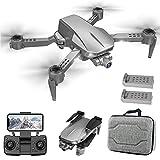 ZDSKSH Drone Plegable Cámara de 90 ° ESC, GPS Drone with 4K HD WiFi Camera, GPS Mini Drone con Cardán mecánico de 2...