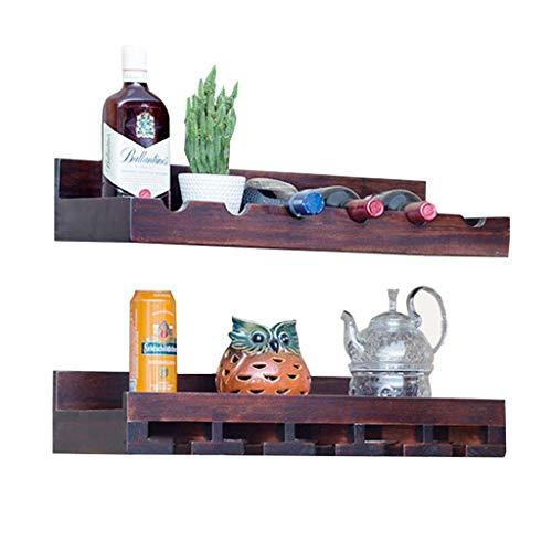HYY-YY familia europea del vino en rack Estante del vino de la pared de madera maciza hanging gabinete del vino vivir estante pared de la sala botellero cremallera pared del armario de la cocina del v