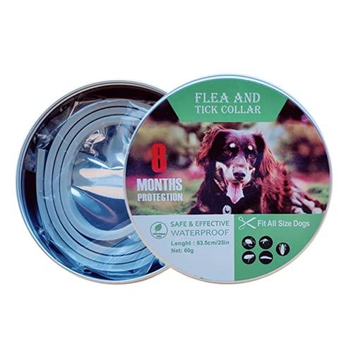 Repellenti per Insetti per Gatti Cane Collare antipulci pulci e zecche Collare per Cani Regolabile Impermeabile Proteggere per Gatti e Cani (L(62cm))