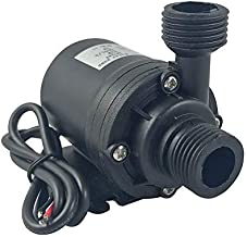 ZAOJIAO DC 12V Brushless Water Pump 1/2'' Male Thread Centrifugal Submersible Pump 800L/H 210GPH 5M/16ft for Fountain Solar Panel Pond Aquarium Water Circulation System